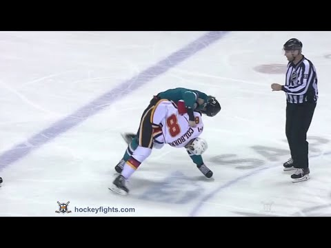 Joe Colborne vs Mirco Mueller