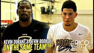 Kevin Durant & Devin Booker TEAM UP at Rico Hines UCLA Run! CRAZY SCORING CLINIC