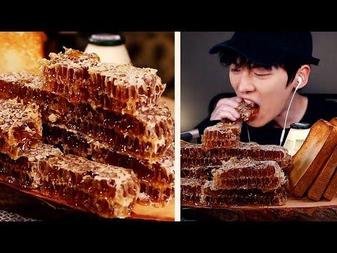 【Mukbang HONEY COMB🍯】통 벌꿀집 먹방|호떡,토스트,꿀 아이스크림|리얼사운드 蜂蜜  Real Eating Sounds [SIO ASMR 시오]