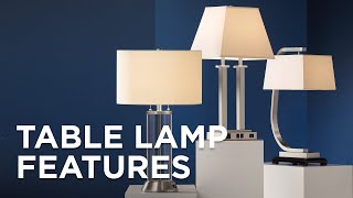 Table Lamp Features