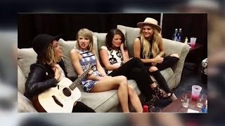 Taylor Swift Sings 'Fight Song' Backstage | ABC News
