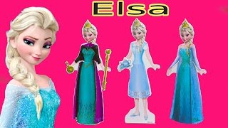 Queen ELSA Wooden Doll Disney Frozen Movie Wood Dress Up Outfits Activity Book Playset Toy Unboxing