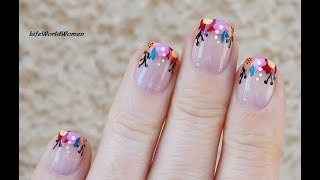 FRENCH MANICURE DESIGNS #11 Easy & Cheerful Floral Nail Art