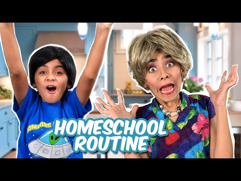 Embarrassing Homeschool Routine - Miss Mom Vlogs : Skits w/ Lloyd #StayHome // GEM Sisters
