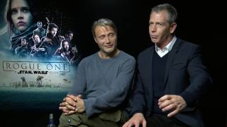 Mads Mikkelsen & Ben Mendelsohn Interview ROGUE ONE - drunk in Iceland - funny story