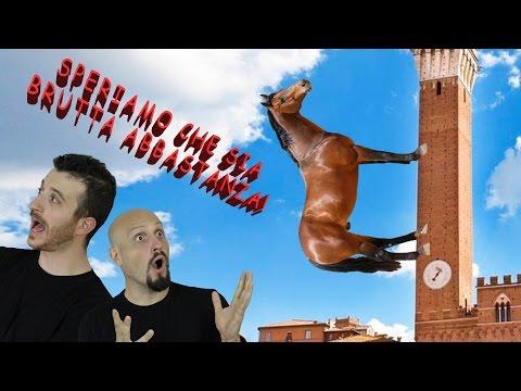 Il sesso cavallo con un uomo a guardare