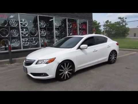 HILLYARD RIM LIONS 2013 ACURA ILX RIDING ON 18 INCH MACHINED CONCAVE WHEELS & TIRES STARR 222