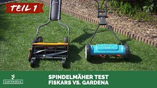 Spindelmäher Test (1/2) - 2 Geräte von Gardena und Fiskars im Vergleich