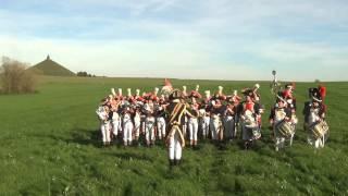 preview picture of video 'Musique du 1er Régiment des Grenadiers à Pied de la Garde (Waterloo) - Adieu des chasseurs'