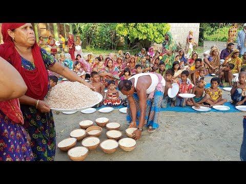 Traditional Yogurt & Flattened Rice Making To Feed Whole Village Peoples - Tasty Bengali Sweet Curd
