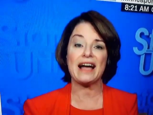 Amy Klobuchar Weird Eyebrow On Cnn