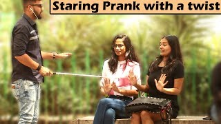 STARING AT CUTE GIRLS #2 | Prank with a Twist | Unglibaaz