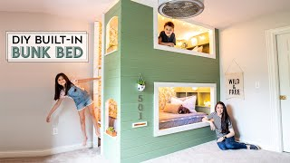 DIY Bunk Beds (Built-In Twin Beds)