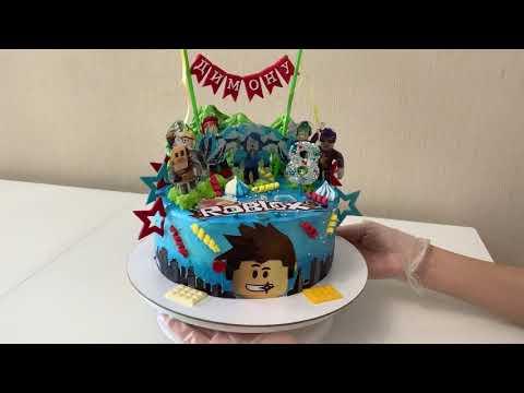 Как украсить торт по теме игры Роблокс