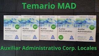 Temario MAD Auxiliar Administrativo Corporaciones Locales 2017: Paquete Ahorro
