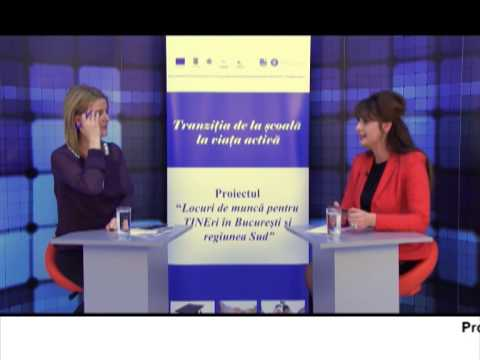 (VIDEO) Locuri de muncă pentru TINEri în București și regiunea Sud – CAMELIA SANDU (E10)