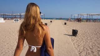 Крым. Лучший пляж в Евпатории с чистым морем и классным песком