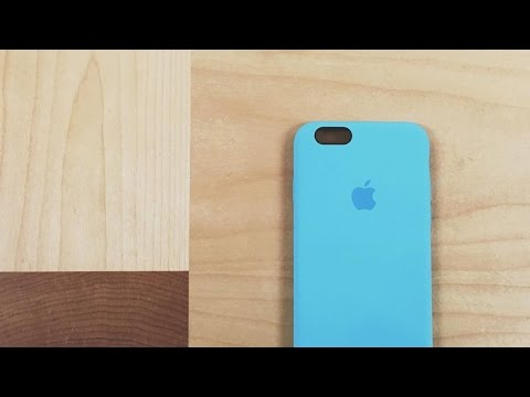 Blue Apple Silicone Case for the iPhone 6S
