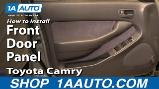 Toyota camry repair manual service manual online 1990 1991 how to install replace front door panel toyota camry 92 96 1aauto fandeluxe Choice Image