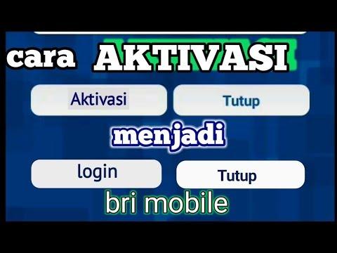 Aktivasi BRI MOBILE internet banking