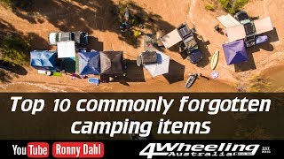 Top 10 Forgotten Camping Items