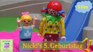 Playmobil Film Deutsch NICKIS 5 GEBURTSTAG AUF DEM ABENTEUERSPIELPLATZ  ♡ Playmobil Geschichten
