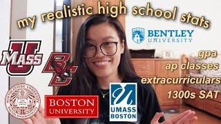 how i got into boston university with average grades! ✰ advice & tips, my stats and ecs