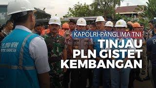 Kapolri Panglima TNI Tinjau PLN Gistet Kembangan yang Sempat Terendam Air