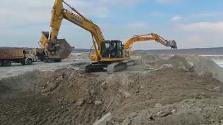 Komatsu PC 220 LC Excavator Jcb EXCAVATOR KAPIŞMASI Komatsu PC 220 LC Excavator JCB EXCAVATOR WORK