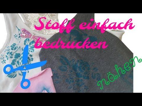 DIY ✿ Stoff bemalen ✿ Ohne teure Farben ✿ Stoff bedrucken ✿ Nähen für Anfänger