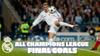 ALL Real Madrid Champions League final goals! | Zidane, Cristiano & more!