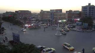 preview picture of video 'Sunset over Mazar-e Sharif city center, Afghanistan - part 4'