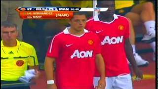Debut del Chicharito Hernandez con el Manchester united momento de su entrada