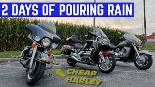 The WETTEST Motorcycle Ride Ive EVER DONE *Will The Harley Make It?*
