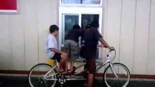 preview picture of video 'MCDONALDS DRIVE THRU WITH TWO SEATER BIKE'