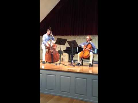 "3rd Movement of Rossini's ""Duo for Cello and Bass"" with Alex Ullman on Cello and Darren Sacks on Bass"