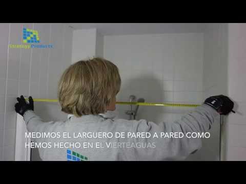 Vídeo montaje de una Mampara Enrollable en ducha o bañera