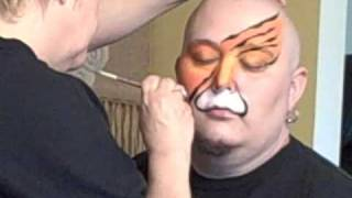 Split Tiger Face Painting Tutorial | Curlies Face Art & Michigan Face Painters