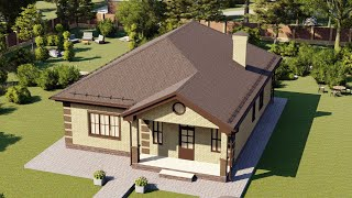 Проект дома 123-D, Площадь дома: 123 м2, Размер дома:  11x14 м