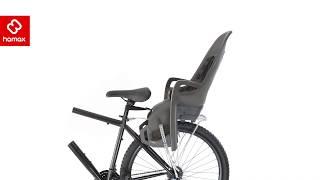 Hamax Caress Fahrrad Kindersitz grau weiß Bezug blau verstellbar NEU