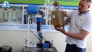 Тестирование фильтра NC-10 для воды с промывной титановой мембраной.