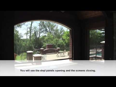 DuraScreens Dual Track Retractable Screens