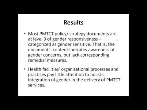 Video: Gender mainstreaming in PMTCT programmes in Tanzania