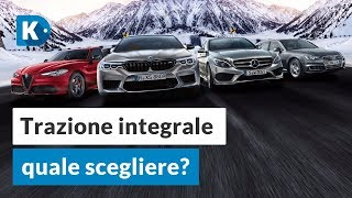 TRAZIONE INTEGRALE: quale scegliere? Alfa Romeo Q4, Audi quattro, BMW XDrive, Mercedes 4Matic