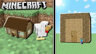 World S Biggest House Vs Smallest House Minecraft Minecraftvideos Tv