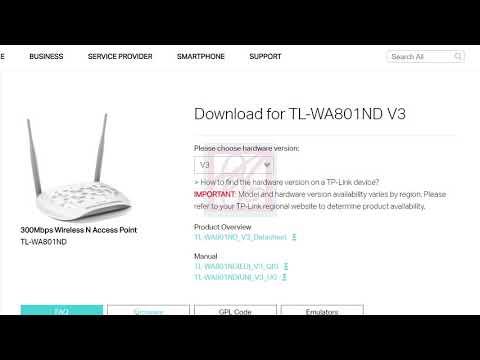 TP link How to Upgrade Firmware TL WA801ND - смотреть онлайн
