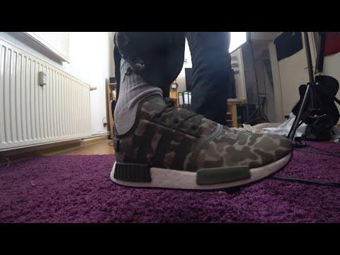 Adidas Schuhe Sneaker Laufschuh NMD_R1 D96617 Camouflage Herren   ShaneTSGTV Reviews