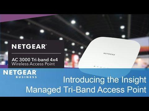 WAC540 Insight Managed Smart Cloud Tri-band 4X4 Wireless Access Point