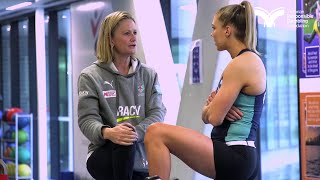 Melbourne Vixens Coach Simone McKinnis talks gambling ads and finding support