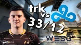 CS:GO POV - TRK VS C9 32/12 | TRAIN | WESG 2017 World Finals